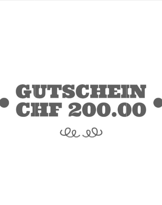 Gutschein CHF200