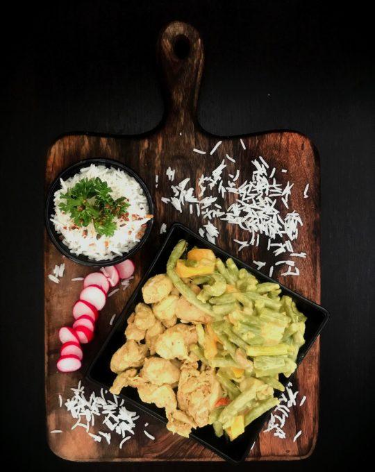 Pouletgeschnetzeltes mit Reis 2