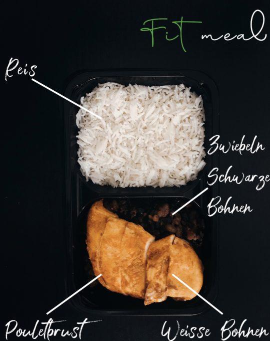 pouletbrust mit schwarzen