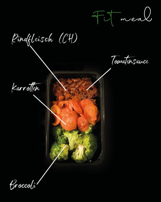 Schalen Foto Rindgeschnetzeltes mit Broccoli Light